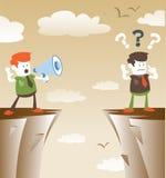 Korporacyjni faceci komunikuje od odległości ilustracji