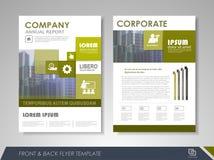 Korporacyjni i biznesowi broszurka szablony Fotografia Stock