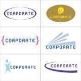 korporacyjni logowie ilustracja wektor