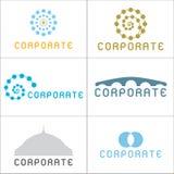 korporacyjni logowie Obrazy Royalty Free