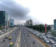 Korporacyjny centrum, DLF Cyber miasto obrazy royalty free
