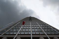 Korporacyjny drapacz chmur w centrum biznesu obraz royalty free