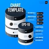 Korporacyjny infographics szablon na jaskrawym błękitnym tle Zdjęcie Royalty Free