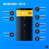 Korporacyjny infographics szablon na jaskrawym błękitnym tle Fotografia Stock