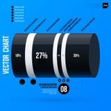 Korporacyjny infographics szablon na jaskrawym błękitnym tle Zdjęcia Stock