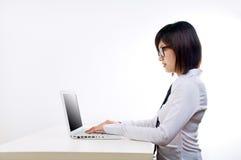 korporacyjny laptopu kobiety działanie zdjęcia royalty free