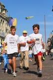 korporacyjny lodowy ko maratonu pokoju bieg Obrazy Royalty Free