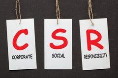 Korporacyjny odpowiedzialności społecznej CSR obrazy stock