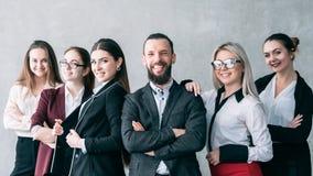 Korporacyjny pięcioliniowy biznes drużyny workspace workaholic zdjęcie stock