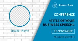Korporacyjny zawiadomienie plakata szablon Wektorowa ulotka dla biznesowej konferencji Ogólnospołeczny medialnego wydarzenia szta ilustracja wektor