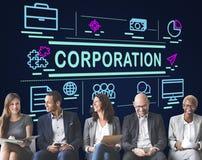 Korporation Företag företags företagsgruppbegrepp Royaltyfri Bild