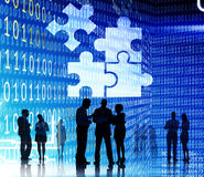 Korporative Puzzle-Einheit Team Collabration Concept Lizenzfreie Stockfotos