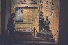 Korps-Kupfer-Skulptur-Jinggangshan Museum der Kinder lizenzfreies stockbild