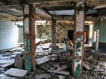 Korpsen en kelderverdiepingen dorm in Khamovniki royalty-vrije stock fotografie