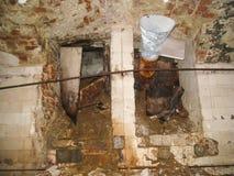 Korpsen en kelderverdiepingen dorm in Khamovniki royalty-vrije stock foto