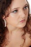 korpulent elegantt sminkkvinnabarn royaltyfri fotografi