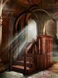 Korpulpet i en fantasitempel Arkivfoto