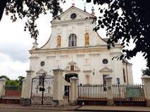 Korpus Christi Church in NESVIZH, WEISSRUSSLAND Stockbilder