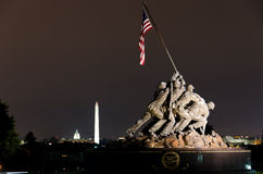 korpusów dc morski pomnik my usa Washington Obraz Royalty Free