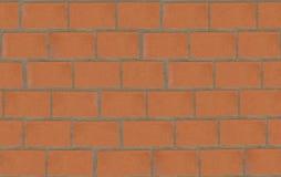 Korrekte Beschaffenheit der Backsteinmauer Stockbild