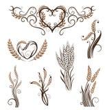 Korrel, brood, tarwe, bakkerij Royalty-vrije Stock Foto's