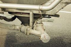 Korrel Dumpend Apparaat op Semi Vrachtwagen Royalty-vrije Stock Fotografie
