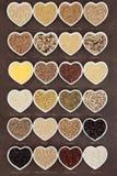 Korrel en Graangewassenvoedsel Royalty-vrije Stock Foto's