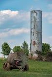 Korrel metaalsilo in lancaster het land van Pennsylvania amish stock foto's