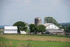 Korrel metaalsilo in lancaster het land van Pennsylvania amish royalty-vrije stock foto's