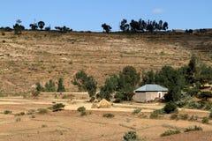 Korrelgebieden en landbouwbedrijven in Ethiopië stock foto's