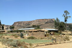 Korrelgebieden en landbouwbedrijven in Ethiopië royalty-vrije stock foto's