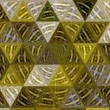 Korrelig die patroon uit okerdriehoeken wordt samengesteld stock fotografie