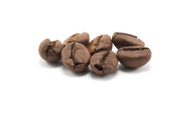 Korrels van koffie Stock Foto's