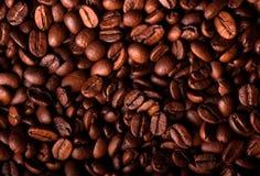 Korrels van zwarte koffie Stock Fotografie