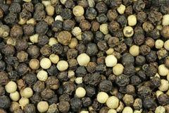 Korrels van zwarte peper Royalty-vrije Stock Afbeeldingen