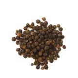 Korrels van zwarte peper Royalty-vrije Stock Foto's