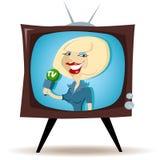 Korrespondent auf dem Fernsehapparat lizenzfreie abbildung