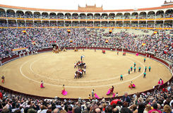 Korrida in Madrid. Parade participants Royalty Free Stock Image