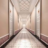 korridor 3d stock illustrationer