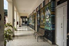 Korridor Art School San Alejandro Havana Royaltyfria Foton