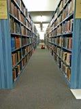 Korridor av böcker fotografering för bildbyråer