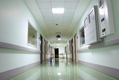 Korridor av hospitalwithen diagramet av doktorn Royaltyfri Foto