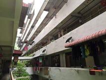 Korridor av lägenhetlägenheter Fotografering för Bildbyråer