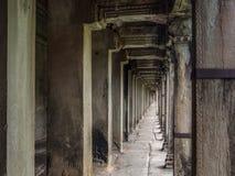 Korridor bei Angkor Wat Temple, Siem Reap, Kambodscha Lizenzfreies Stockbild