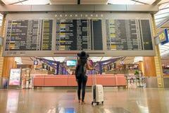 Korridor för avvikelse för Singapore Changi flygplatsterminal 2 Arkivbild