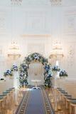 Korridor för bröllopceremoni Arkivfoto