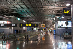 Korridor för Bryssel flygplats arkivfoto