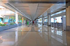 Korridor för Cochin internationell flygplatsavvikelse Royaltyfria Bilder