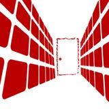 korridor för dörrslut Royaltyfria Bilder