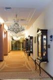 Korridor för lyxigt hotell arkivfoto
